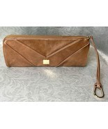 Vintage KOOBA Tan Leather Clutch Handbag W/ Gol... - $46.74
