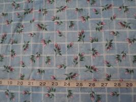 "NEW Rare Daisy Kingdom Small Rosebuds 100% Cotton Quilting Fabric 1Ys 4"" - $14.98"