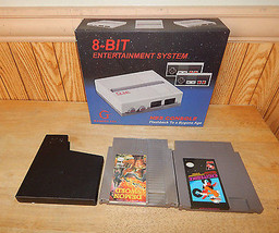 NEW RETRO NES NINTENDO CONSOLE SET W/ 2 GAMES Gyromite & Ikari Warriors II - $53.19