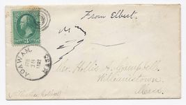 1882 Agawam MA Vintage Post Office Postal Cover - $9.95