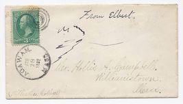 1882 Agawam MA Vintage Post Office Postal Cover - $9.95