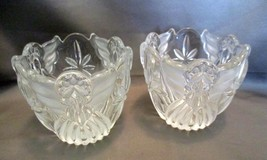 Gorham Angels of Peace Crystal Holiday Traditions Votive Set of 2 - $17.99