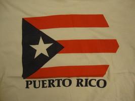 Vintage Puerto Rico Flag International Culture Red White Blue T Shirt M - $19.79