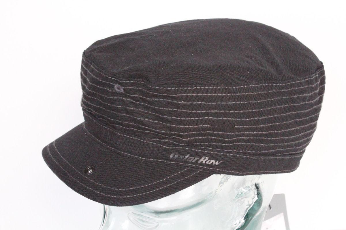 "G-Star Raw ""CARO"" Slub Canvas Cap Hat Black $65 BNWT 100% Authentic UNI"