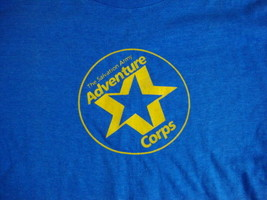 "Vintage Salvation Army ""Adventure Corps"" Blue Men's T Shirt S - $15.04"