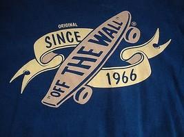Vans Off The Wall Skateboard Surfboard California Blue T Shirt Men's Size M - $15.83