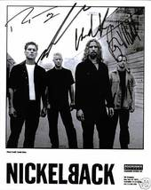 NICKELBACK BAND GROUP SIGNED AUTOGRAPHED AUTOGRAMME RP PHOTO ALL 4 - $16.99