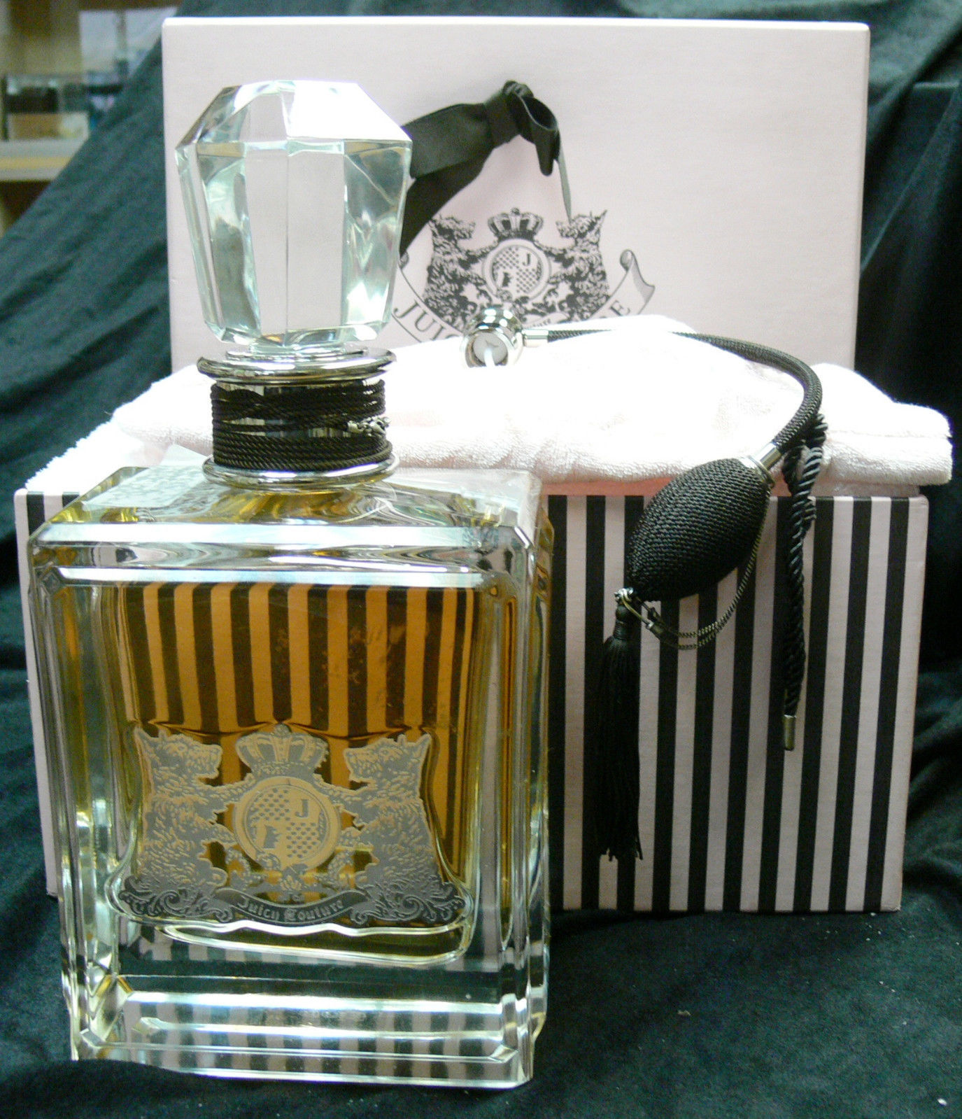 "JUICY COUTURE 20 oz PERFUME COLLECTORS NUMBERED 11""H,5 1/2 "" L.3 1/2 "" W **RARE*"