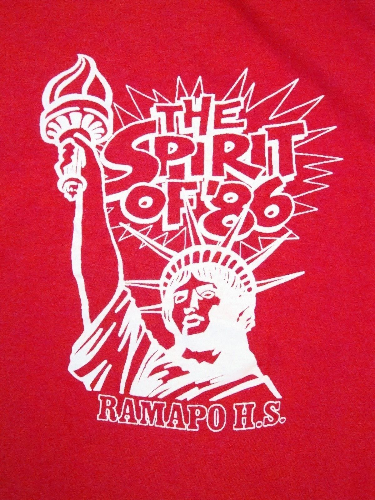Primary image for Vintage 1986 Ramapo High School New York City 80's Statue of Liberty T Shirt M