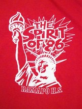 Vintage 1986 Ramapo High School New York City 80's Statue of Liberty T Shirt M - $19.79