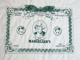 Vintage Mangelsen's Team Money Business Owner Thin White T Shirt M - $17.81