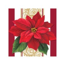 Poinsettia Lace 16 ct Beverage Napkins Christmas Party - $3.79