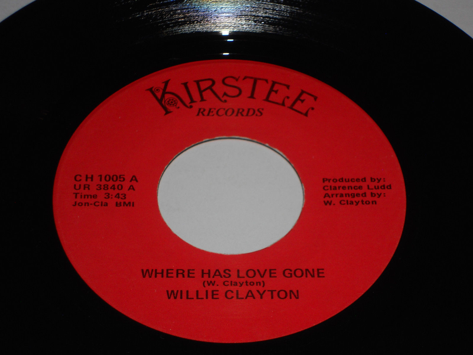 Primary image for WILLIE CLAYTON VG Love Ya One More Time 45 Where Has Love Gone Soul Funk