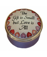 """Marshall Enamels """"This Gift is Small but Love is All"""" - $45.00"""