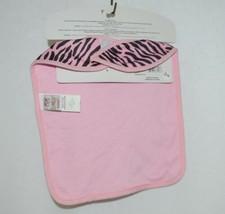 Ganz BG3191 Pink Black Zebra Hook Loop Baby Girl Infant Bib image 2