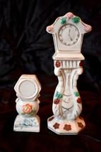 Set of 2 vintage CLOCK shaped Figurines made in Japan - $10.39