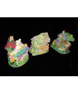 Hoppy Hollow Easter Village Ceramic Houses Set of Three (Lot #4) - $20.00