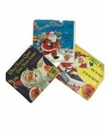 3 Vintage 1950s Santa Claus Christmas Children's 45 Record Jingle Bells ... - $23.34