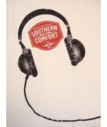 Southern Comfort New Orleans Original White Music Headphones T Shirt L - $14.84