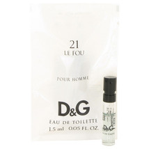 10 PACK Dolce & Gabbana Le Fou 21 Vial 0.05 oz EDT SPRAY for Men - $6.50