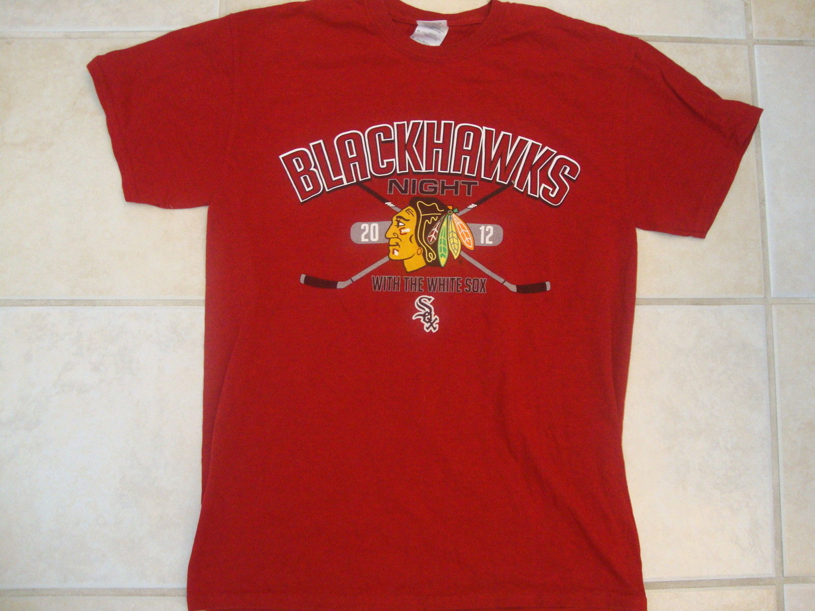 NHL Chicago Blackhawks National Hockey League With the White Sox Red T Shirt M