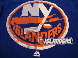 NHL New York NY Islanders National Hockey Fan Majestic Apparel Blue T Sh... - $16.82