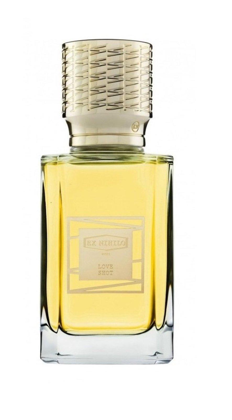 LOVE SHOT by EX NIHILO 5ml Travel Spray PARFUM Perfume RASBERRY LEATHER MUSK
