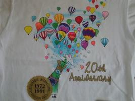 Vintage 20th Anniversary Albuquerque International Balloon Fiesta 1991 T Shirt L - $23.75
