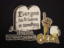 Vintage I Believe I'll Have A Beer Funny College Party Belief Religion T Shirt M - $16.82