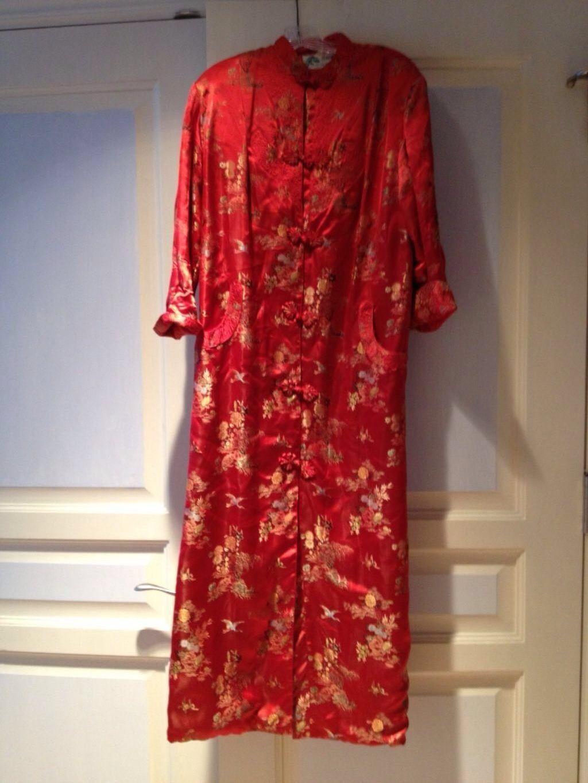 Exquisite Red Satin Full Length Robe - $199.99
