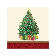 Perfect Pine Tree 16 Ct Beverage Napkins Christmas Party - $3.79