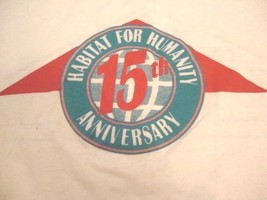 Vintage Habitat For Humanity Anniversary 90s Service Help Paper Thin T Shirt M - $14.38