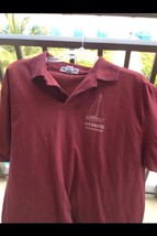 Sailboat Racing Shirt Short Sleeve Burgundy Colored Mens Size Large By J... - $32.87 CAD