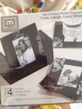 8 Photo Coasters By Melamco live laugh love dream (2 sets of 4) - $49.99
