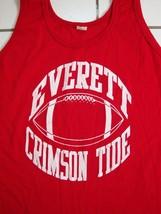 Vintage Everett Washington Crimson Tide Football Tank Top Sleeveless T Shirt M - $15.14