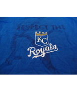 MLB Kansas City Royals Major League Baseball Fan Blue Distressed T Shirt XL - $15.53