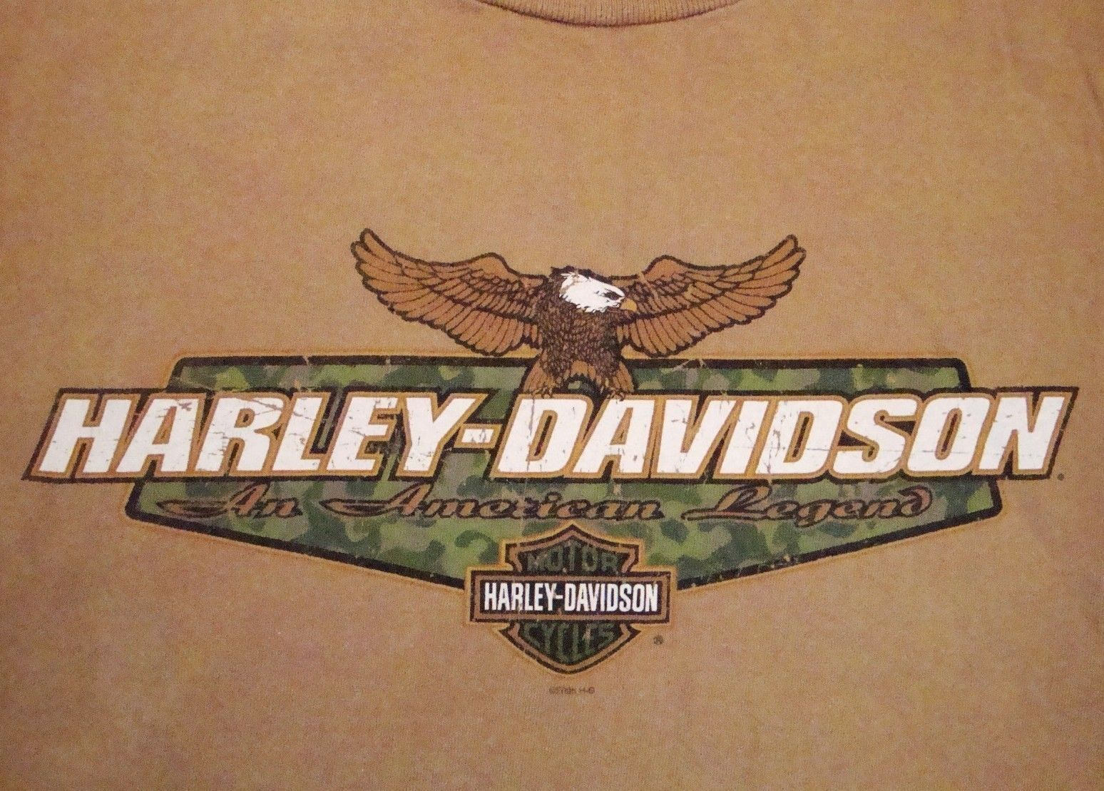 Primary image for Harley-Davidson Motorcycles Mobile Bay AL Alabama Souvenir Tan T Shirt M