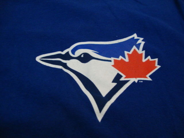 Primary image for MLB Toronto Blue Jays Major League Baseball Fan Majestic Apparel Blue T Shirt XL