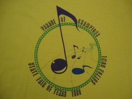 Vintage 80's Parade Of Champions State Fair Of Texas 1988 Cotton Bowl T Shirt L - $24.74