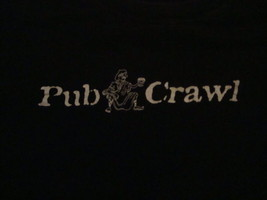 "Pub Crawl Roma 2002 ""Baptized in Beer"" Funny Drinking Black T Shirt L - $15.53"