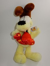 "Nanco 14"" Odie Plush with Red Polka Dot Float w/Tags - $17.81"