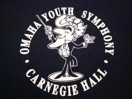 Vintage Omaha Youth Symphony Carnegie Hall 1990 90's Kids Music T Shirt M - $18.80