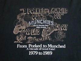 Vintage Munchies Glide Oregon Porked Road Trip 1989 80's Tourist Thin T ... - $17.81