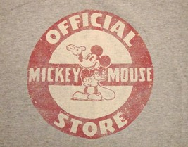 Official Mickey Mouse Store Disney World Disneyland Gray Ringer T Shirt S - $14.84