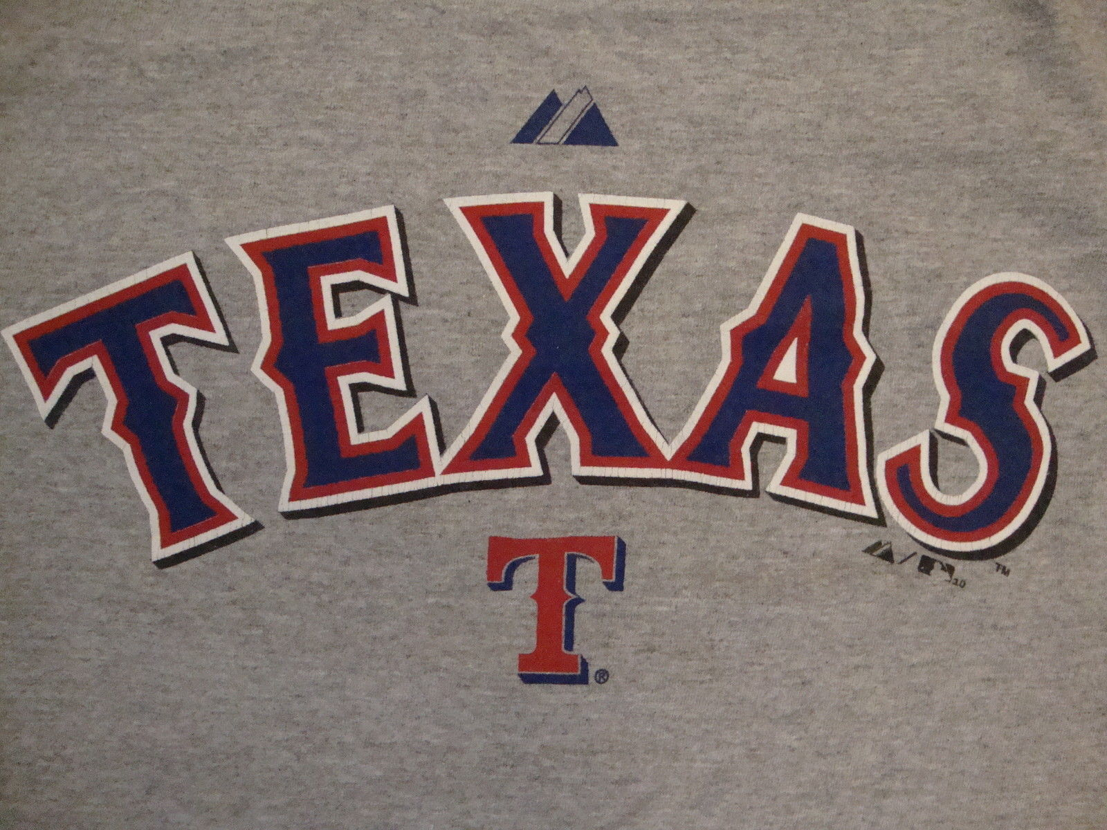 Primary image for MLB Texas Rangers Major League Baseball Fan Majestic Apparel Gray T Shirt XL