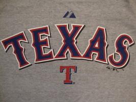 MLB Texas Rangers Major League Baseball Fan Majestic Apparel Gray T Shirt XL - $14.10