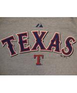 MLB Texas Rangers Major League Baseball Fan Majestic Apparel Gray T Shir... - $14.10