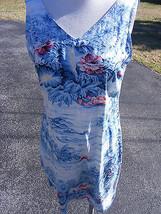 Liz Claiborne Lizwear Size 10 Tropical Sheath Dress Hawaiian Print Summer - $8.25