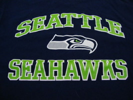 NFL Seattle Seahawks National Football League Fan Team Apparel Blue T Shirt L - $15.53