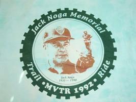 Vintage Jack Noga Memorial Trail Ride MVTR 1992 90's Tourist Tie-Dye T Shirt L - $19.79